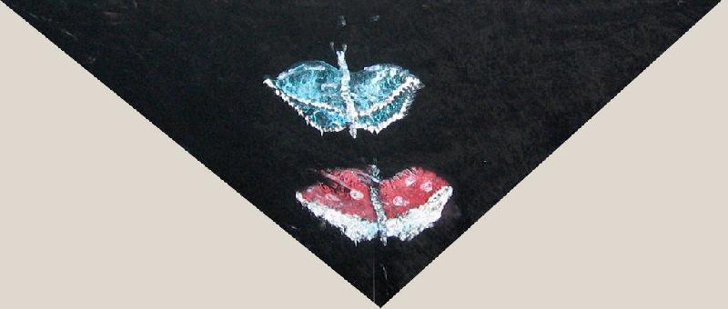 Платок с бабочками