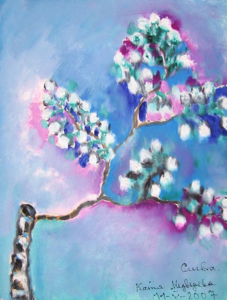 Слива в цвету