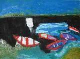 Картина Кати Медведевой: Старая Ладога, лодки Популярность: 4796