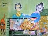 Картина Кати Медведевой: Праздник в селе Популярность: 5628