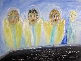 Картина Кати Медведевой: Три ангела и душа Популярность: 6355